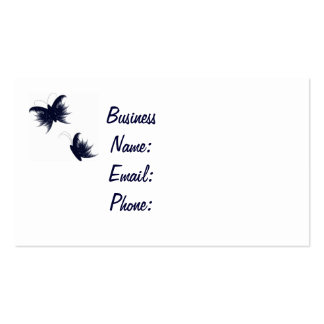 feathery butterflies pack of standard business cards