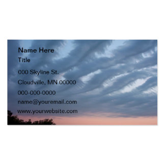 Feathery Clouds Business Card Templates