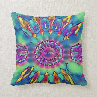 "Feathery Soft Pastel ""Dharma"" Circular Pattern Throw Pillow"