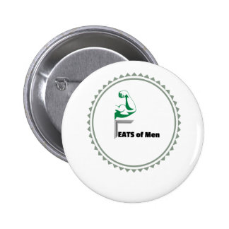 Feats of Men Apparel, Trinkets, and Merchandise 6 Cm Round Badge