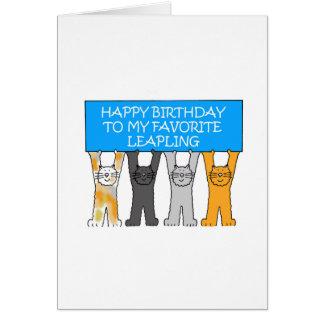 February 29th Birthday (American spelling) Card