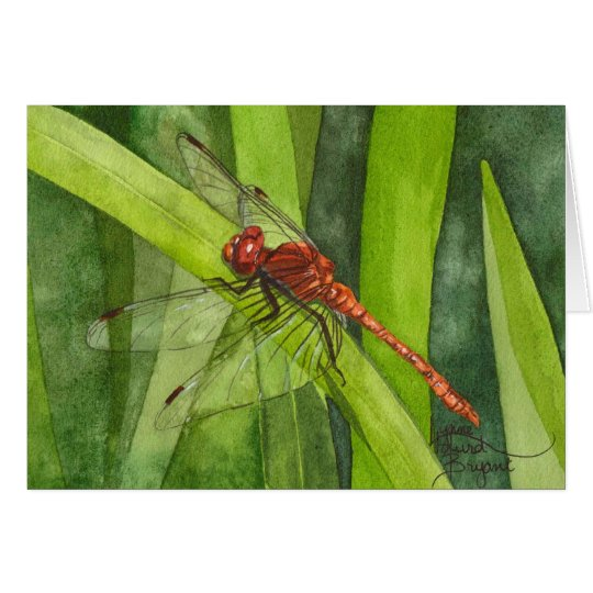 February Dragonfly Card