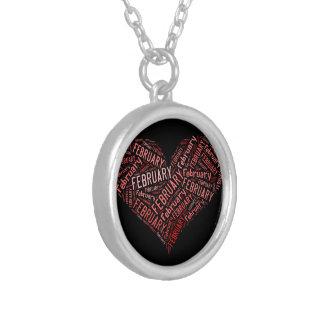February Heart Custom Necklace