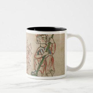 February: hoeing Two-Tone mug