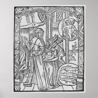 February, interior scene, Aquarius Poster