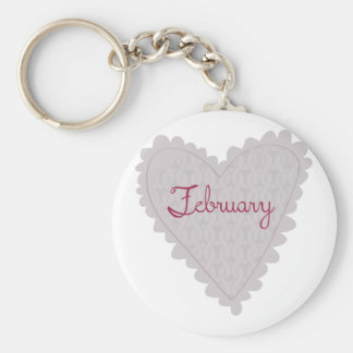 February Keychains