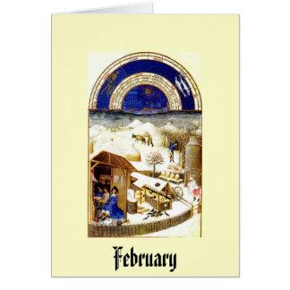 February - Les Tres Riches Heures du Duc de Berry Card