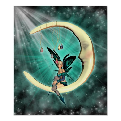February Moon Fairy Fantasy Fey Poster