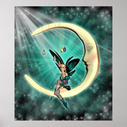 February Moon Fairy Fantasy Fey Poster