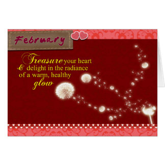February Valentine's Day Greeting Card