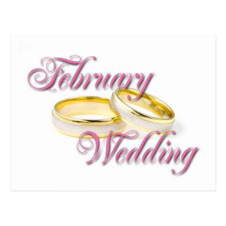 FEBRUARY WEDDING POSTCARD