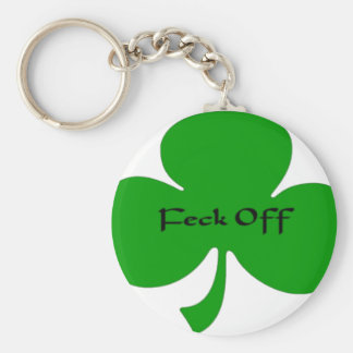 Feck Off Basic Round Button Key Ring