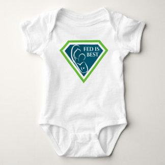 Fed is Best Original Logo Baby Bodysuit