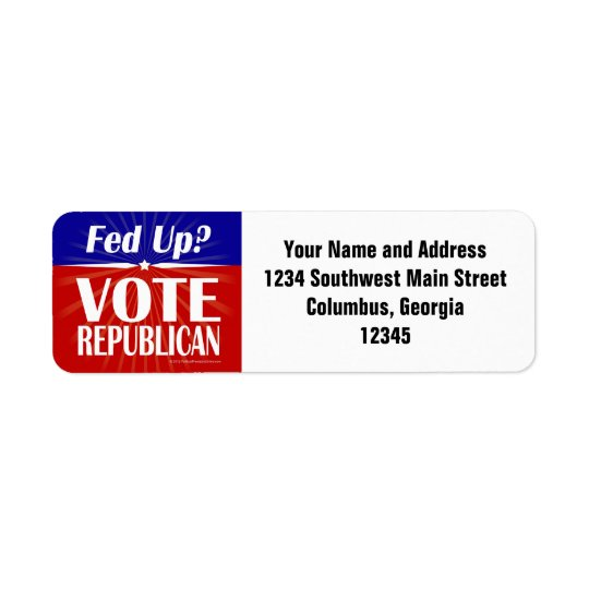 Fed Up? Vote Republican