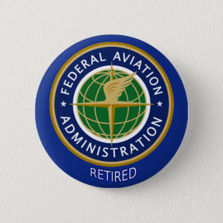 Federal Aviation Administration Retired 6 Cm Round Badge
