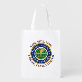 Federal Aviation Administration Shield Grocery Bags