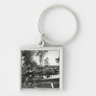 Federal battery fording a tributary on battle key ring