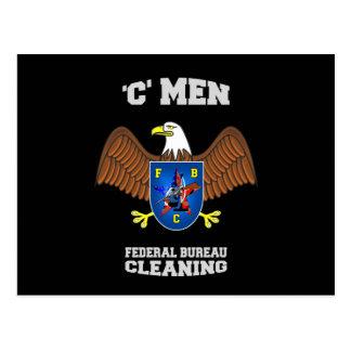 FEDERAL BUREAU of CLEANING  (FBC) Postcard