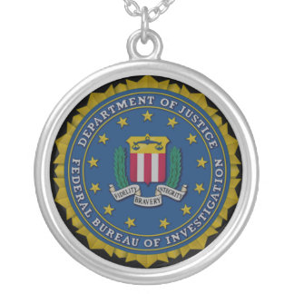 Federal Bureau of Investigation (FBI) Round Pendant Necklace