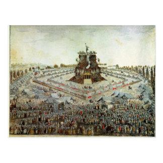 Federal Camp at Lyon, 30th May 1790 Postcard
