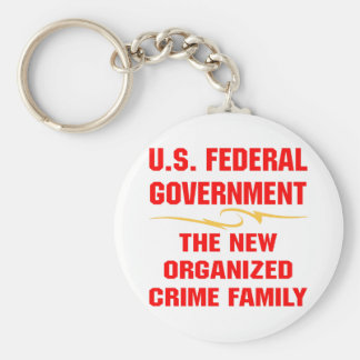 Federal Government New Organized Crime Family Basic Round Button Key Ring
