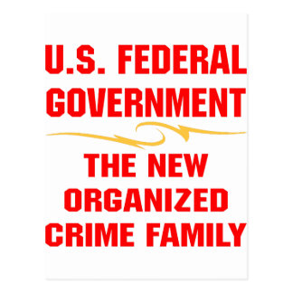 Federal Government New Organized Crime Family Postcard