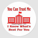 Federal Government Says Trust Me Round Sticker