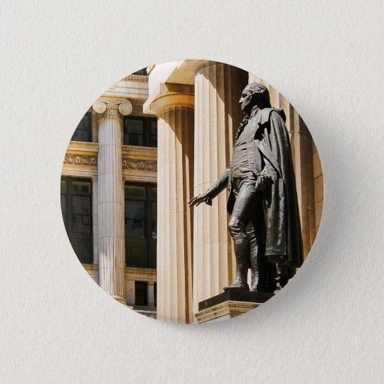 Federal Hall, NYC 6 Cm Round Badge