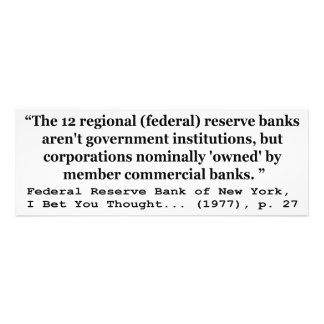 Federal Reserve Banks Aren t Government Art Photo