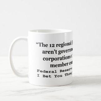 Federal Reserve Banks Aren't Government Basic White Mug