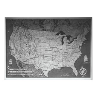 Federal Reserve Building Map 13 Cm X 18 Cm Invitation Card