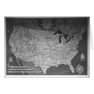 Federal Reserve Building Map Greeting Card