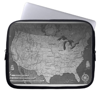 Federal Reserve Building Map Laptop Computer Sleeve