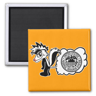 Federal Reserve Button. Square Magnet