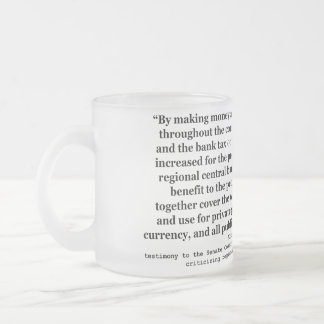 Federal Reserve Interest Rates by Alfred O Crozier Frosted Glass Mug