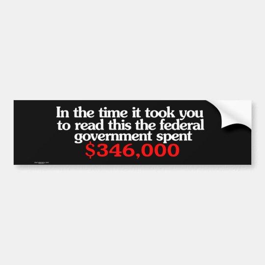 Federal Spending Bumper Sticker
