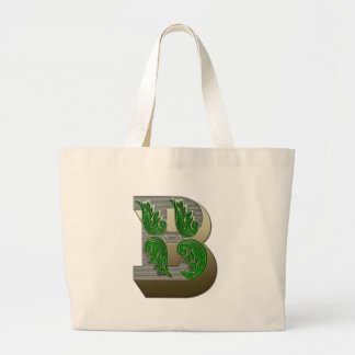 Federal Style Letter B Jumbo Tote Bag