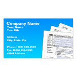 Federal Tax Forms Business Card Templates