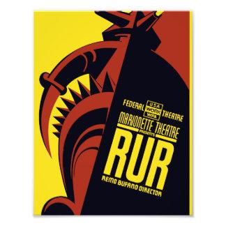 "Federal Theatre: Marionette Theatre presents ""RUR"" Photographic Print"