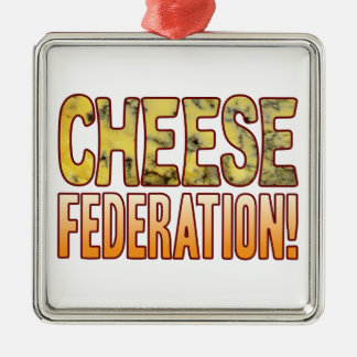 Federation Blue Cheese Silver-Colored Square Decoration
