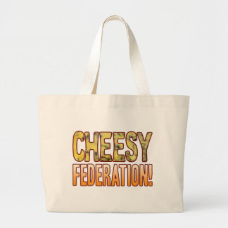 Federation Blue Cheesy Large Tote Bag
