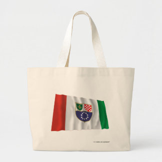 Federation of Bosnia & Herzegovina Waving Flag Jumbo Tote Bag