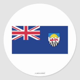 Federation of Rhodesia and Nyasaland Flag (1953-63 Classic Round Sticker