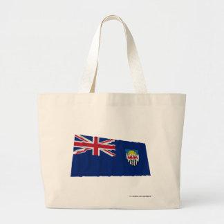 Federation of Rhodesia and Nyasaland Waving Flag Tote Bags