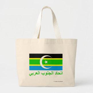 Federation of South Arabia Flag w Name in Arabic Canvas Bags