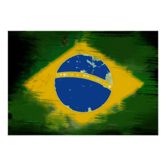 Federative Republic of Brazil flag Poster