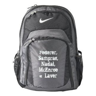 Federer, Sampras, Nadal, McEnroe &  Laver back pac Backpack