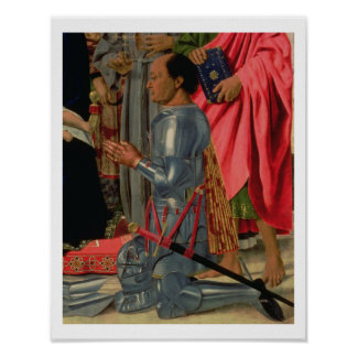 Federico da Montefeltro, detail from the Brera Alt Poster