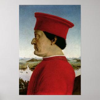 Federigo da Montefeltro  Duke of Urbino, c.1465 Print