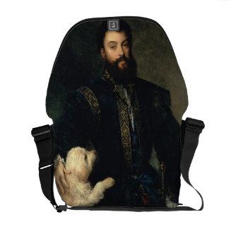 Federigo Gonzaga, Duke of Mantua, c.1525-30 (oil o Commuter Bags